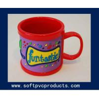Quality Large Decorative Red Custom Coffee Mugs / Personalized Travel Coffee Mugs for Promotion for sale