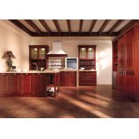 Best Custom Red Solid Wood Kitchen Cabinets , French Country Kitchen Cabinets wholesale