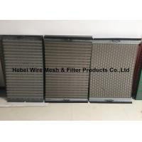 Quality Light Weight Shale Shaker Mesh Screen , Flat / Pinnacle Shaker Screens Manufacturers for sale