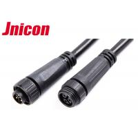 Quality 300V 10A Waterproof Cable Connector Male Female Over Molding With Screw Locking for sale