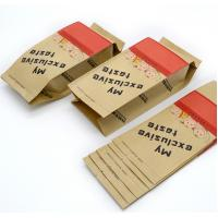 Quality cheap price custom logo side gusset fast food kraft paper packaging tea bags for sale