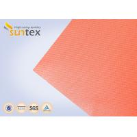 Quality High Temperature 550 C Degree Resistant Silicone Coated Fiberglass Fabric For Welding Curtain Welding Blanket for sale