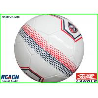China White Stitched Official Size PVC Soccer Ball Size 5 With Soccer Star Printed on sale