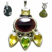 Best Honorable Nepalese style amber gemstone semi precious stone pendants for children' s party  wholesale
