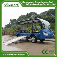 Quality 8 Seater Electric Shuttle Bus With 12*6v Trojan Battery Steel Alloy Frame for sale