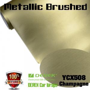 Quality Matte Metallic Brushed Vinyl Wrapping Film - Matte Metallic Brushed Champagne for sale