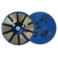 China 3 Inch 10 Diamond 8mm(H)Segments Metal Bond Diamond Grinding Discs for Concrete on sale