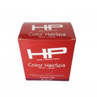 China Custom Perforated Printed Cosmetic Boxes Hair Spa Paper Packing Box Glossy Lamination on sale