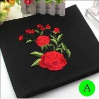 Quality Polyester Embroidered Iron On Patches Appliques With Boutique Rose Flower 19*14 cm for sale