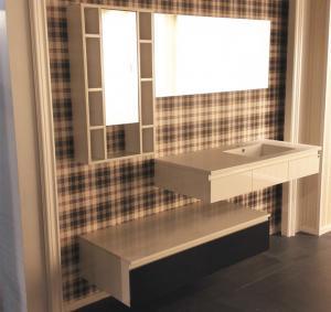 Best Floating Vanity With Big Mirror Bathroom Vanity Cabinets Quartz Stone Countertop wholesale