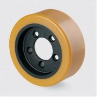 Quality 250x80x175 steel center electric forklift accessory--polyurethane wheel for sale