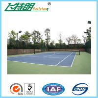 Quality 4mm Thickness Rubber PU Sports Flooring For Volleyball Court / Tennis Court for sale