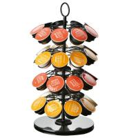 Quality Rotatable K-cup Carousel Coffee Display Rack Coffee Machine Accessory for sale