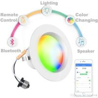 Buy cheap Residential Bluetooth Led Downlights AC100~130V 9W 60Hz 2700K/6500K from wholesalers