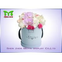 Best Romantic Beautiful Flower Gift Luxury Flower Box With Ribbon , Flower Hat Box wholesale