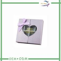 Best Special Paper Gift Boxes Of Chocolates Pvc Window Heart Shaped wholesale