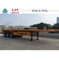 Quality Durable 40 FT 3 Axles Flatbed Trailer For Bulk Cargo Transport for sale