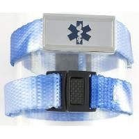 China Personalized Black Leather and Stainless Medical ID Alert Bracelet on sale