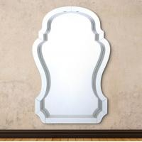 Quality Compact Beveled Glass Framed Mirrors / Decorative Mirror Glass High Hardness for sale