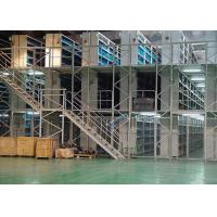 Quality Industrial Small Goods Rack Supported Mezzanine Storage Galvanization Surface Finished for sale
