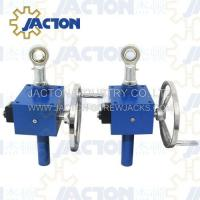 China hand crank worm gear box, hand crank actuator, hand worm thread lifters on sale