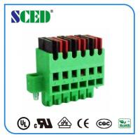 Quality 3.81mm Spring Clamp Electric Plug in Terminal Block For Server Site for sale