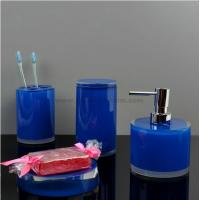 Best blue resin bathroom sets wholesale