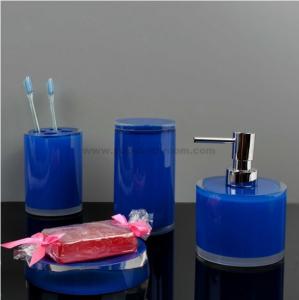 Quality blue resin bathroom sets for sale