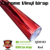 Quality Chrome Mirror Car Wrapping Vinyl Film 3 layers - Chrome Red for sale