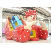 Quality Big clown cartoon inflatable slide - inflatable long slide with arch for sale
