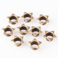 China Star Shaped Eyelets Antique Brass for Fabric; Star Antique Brass Eyelets; Metal Silver Star Eyelets with Washer on sale