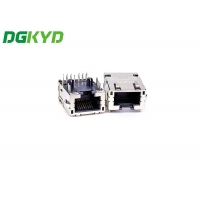 Quality Single Port TAB-DOWN DIP Connector With Lamp Belt Wing Transformer High Performance for sale