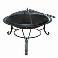 Quality Outdoor Fireplace Gas Fire Pit, Leg with Black Powder Coated for sale