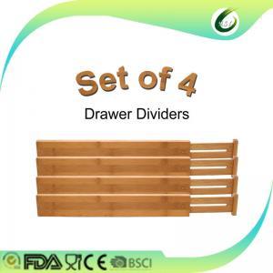 Quality Multifunction Bamboo Kitchen Drawer Dividers , Bamboo Adjustable Drawer Dividers for sale