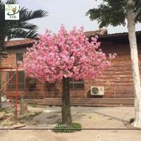 Best UVG CHR142 Beach wedding ideas fake flowers silk cherry blossom tree for stage backdrop decoration wholesale