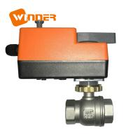 Buy cheap 110VAC Electric Motor Operated Stainless Steel Ball Valve Manual override from wholesalers