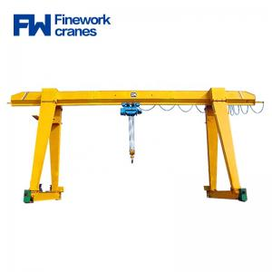 Quality Workshop 10t 20t Single Girder Lifting Gantry Crane for sale