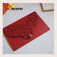 China wedding invitation card  baby shower invitation cards 2016 decorated paper for  wholesale red pearl  small rhinestone on sale