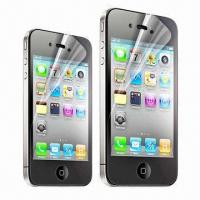 Quality Screen Protector for iPhone 4/4S, with Anti-scratch, Water- and Dust-resistant Features  for sale