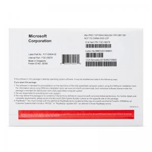 Quality Global Microsoft Windows 7 Pro Oem Cd Key With DVD Life Time Warranty for sale