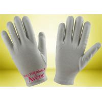 Quality Custom Cotton Beauty Gloves , Hand Moisturizing Gloves No Fluorescent Whitening for sale