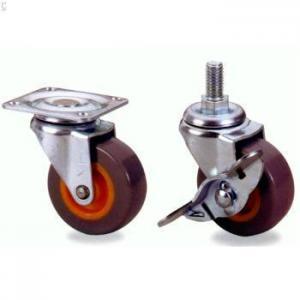 Quality heavy duty high elastic polyurethane cast iron caster wheel for sale