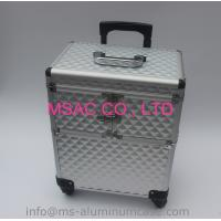 New Style Aluminum Makeup Trolley Case With Silver Color