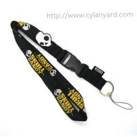 Cheap Skull woven lanyards, custom jacquard skull Halloween lanyards, China lanyard factory, for sale