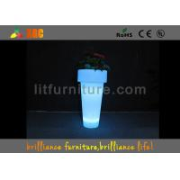 Best Environmentally friendly PE material LED Flower Pot for decorations wholesale