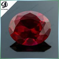 China Factory price ruby corundum gemstone pear shape synthetic ruby stone prices on sale