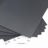 Quality Weave / Glossy Matte Sheet Custom Carbon Fiber Parts High Strength 100% 3K Plain for sale