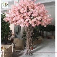 Best UVG CHR057 artificial peach blossom tree for window show witn Pink color indoor decorative wholesale