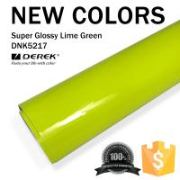 Quality Super Glossy Car Wrapping Film - Super Glossy Lime Green for sale