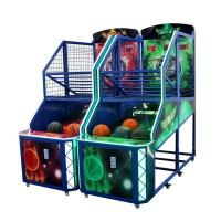 Quality Fancy Shooting Street Basketball Arcade Game Machine Orange Green Blue Color for sale